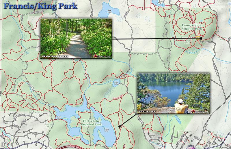Mapa do Francis King Park em Victoria