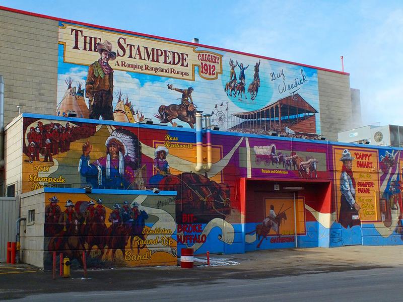 Fachada Stampede Park Art em Calgary