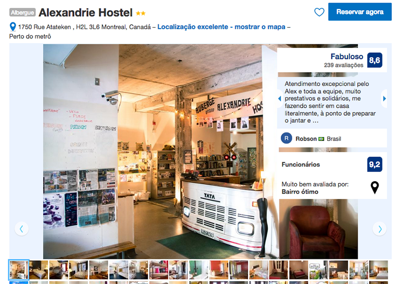 Alexandrie Hostel em Montreal