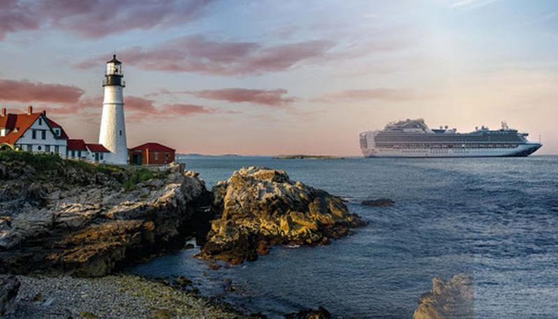 Paisagem do cruzeiro com jantar de Halifax