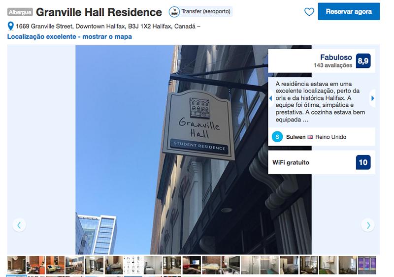 Granville Hall Residence em Halifax