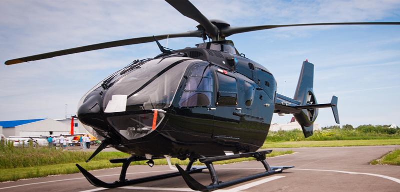 Aeronave do passeio de helicóptero em Jasper