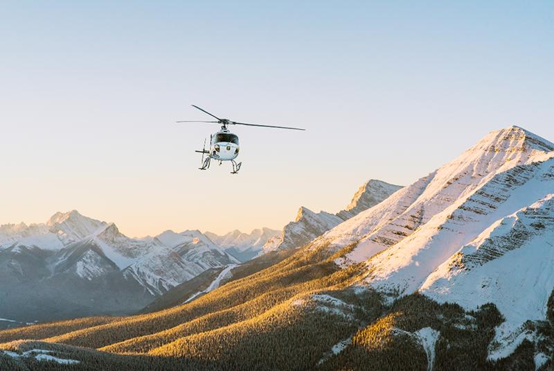 Passeio de helicóptero em Jasper