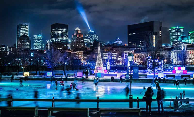 Pista de Natal em Montreal