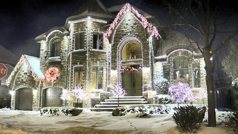 Casas com decoração de Natal em Montreal