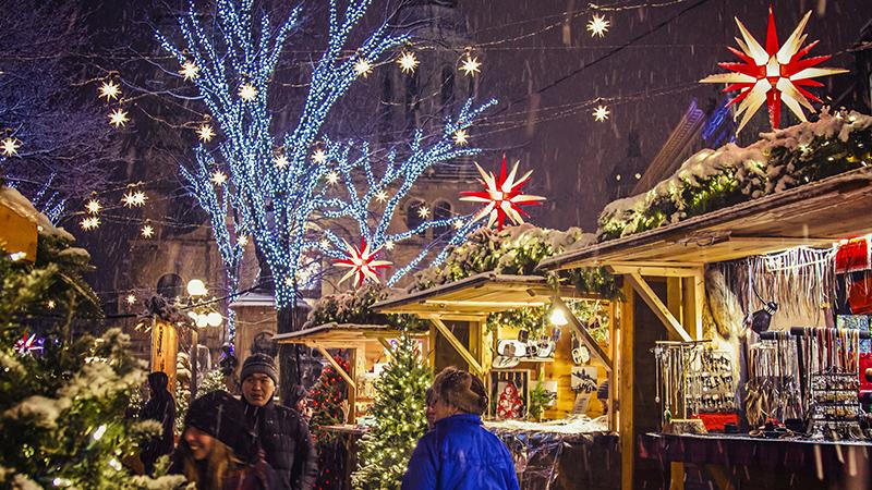 Excursão de Natal em Montreal