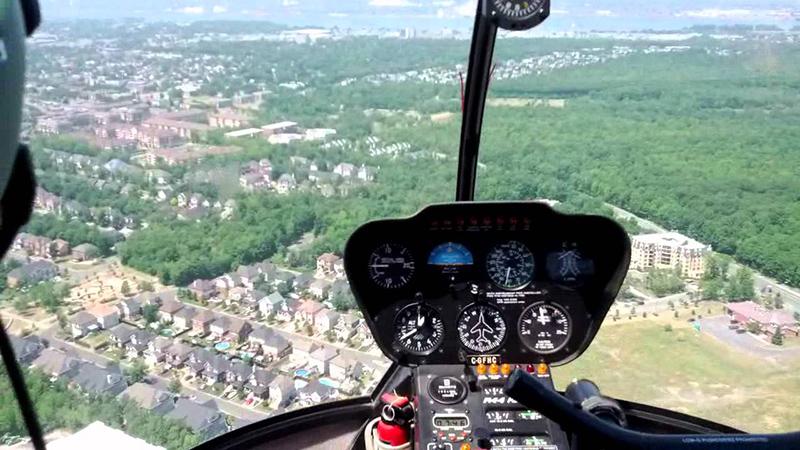 Passeio de helicóptero em Montreal