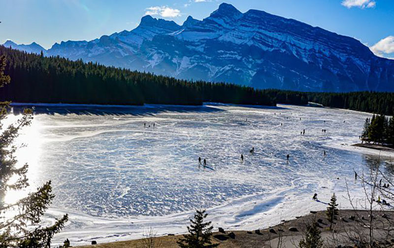 Parque Nacional de Banff no inverno