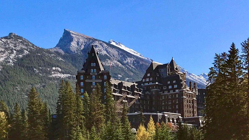 Vista do Banff Springs Hotel