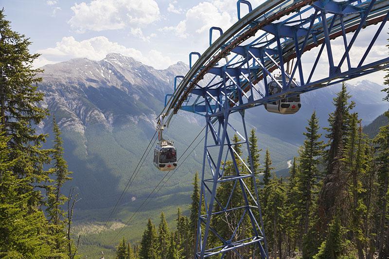 Estrutura do passeio de Teleférico em Banff