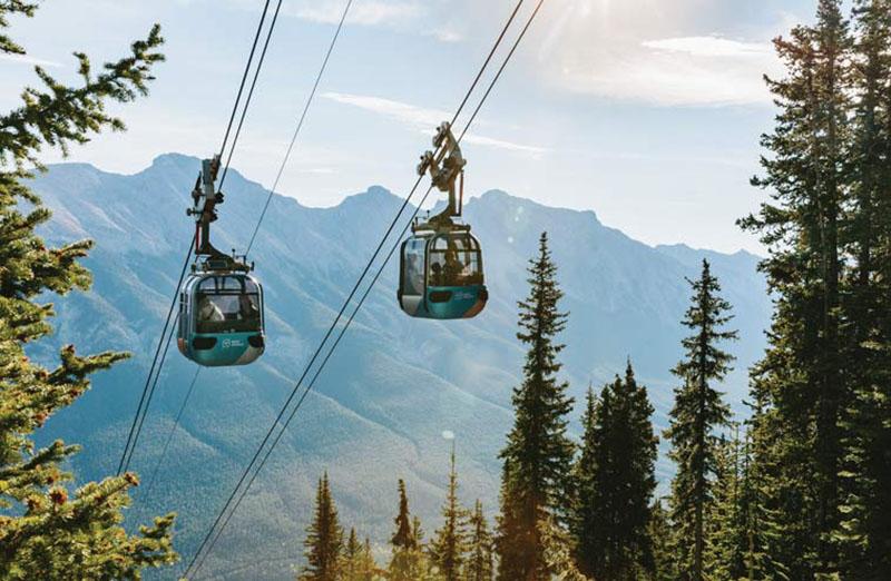 Vista do passeio de Teleférico em Banff