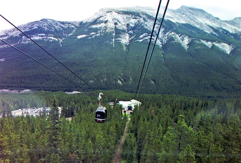 Vista panorâmica do Teleférico em Banff
