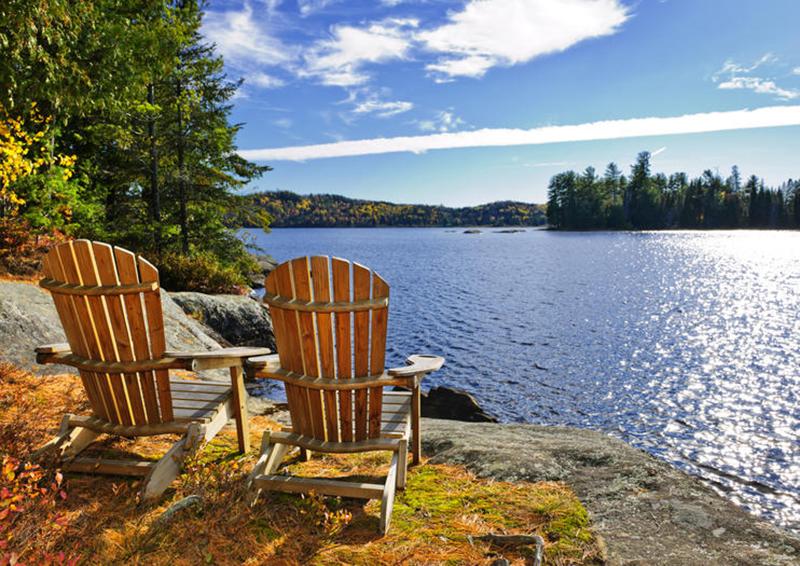 Área de descanso no Algonquin Provincial Park em Toronto