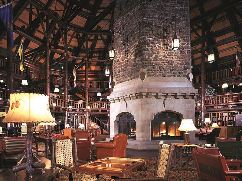 Interior da Montebello Lodge em Montreal