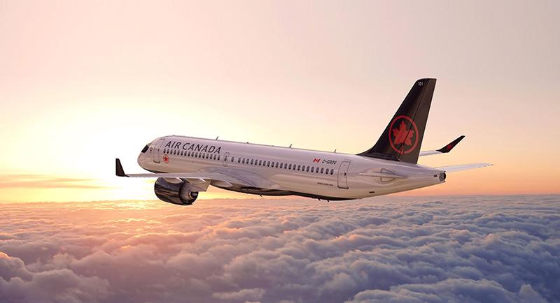 Avião da empresa AIR CANADA