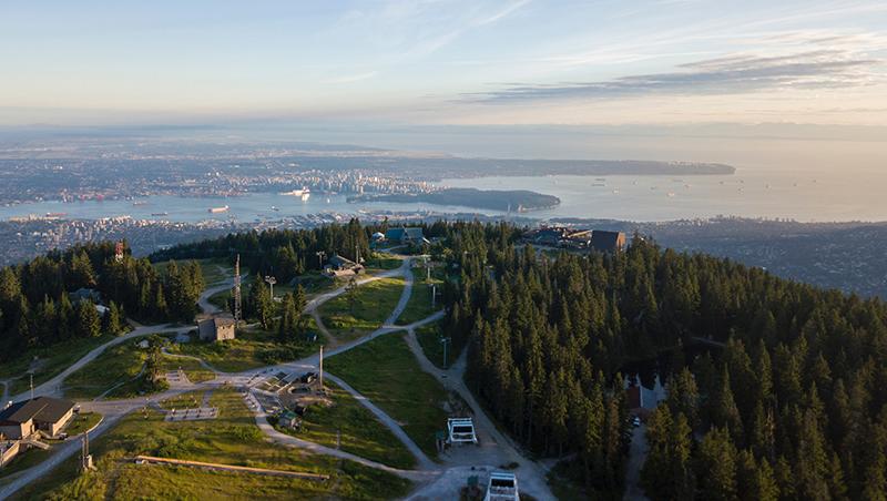 Vista do teleférico Skyride em Vancouver