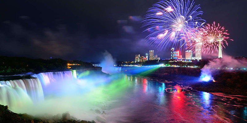 Espetáculo do Night Lights Tour em Niagara Falls