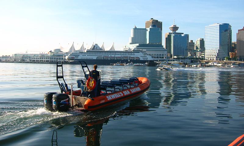 Vista da excursão de barco em Vancouver