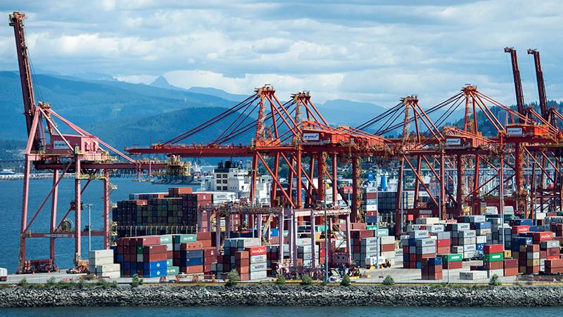 Vista do Porto de Vancouver