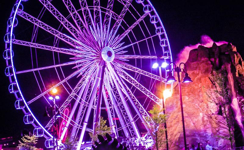 Visita noturna na SkyWheel em Niagara Falls