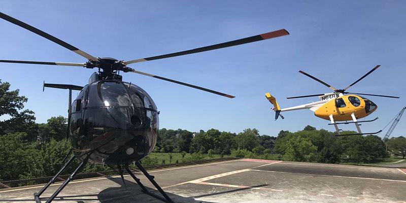 Local de embarque do passeio de helicóptero em Niagara Falls
