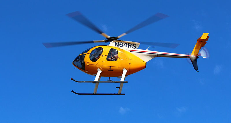 Aeronave do passeio de helicóptero em Niagara Falls